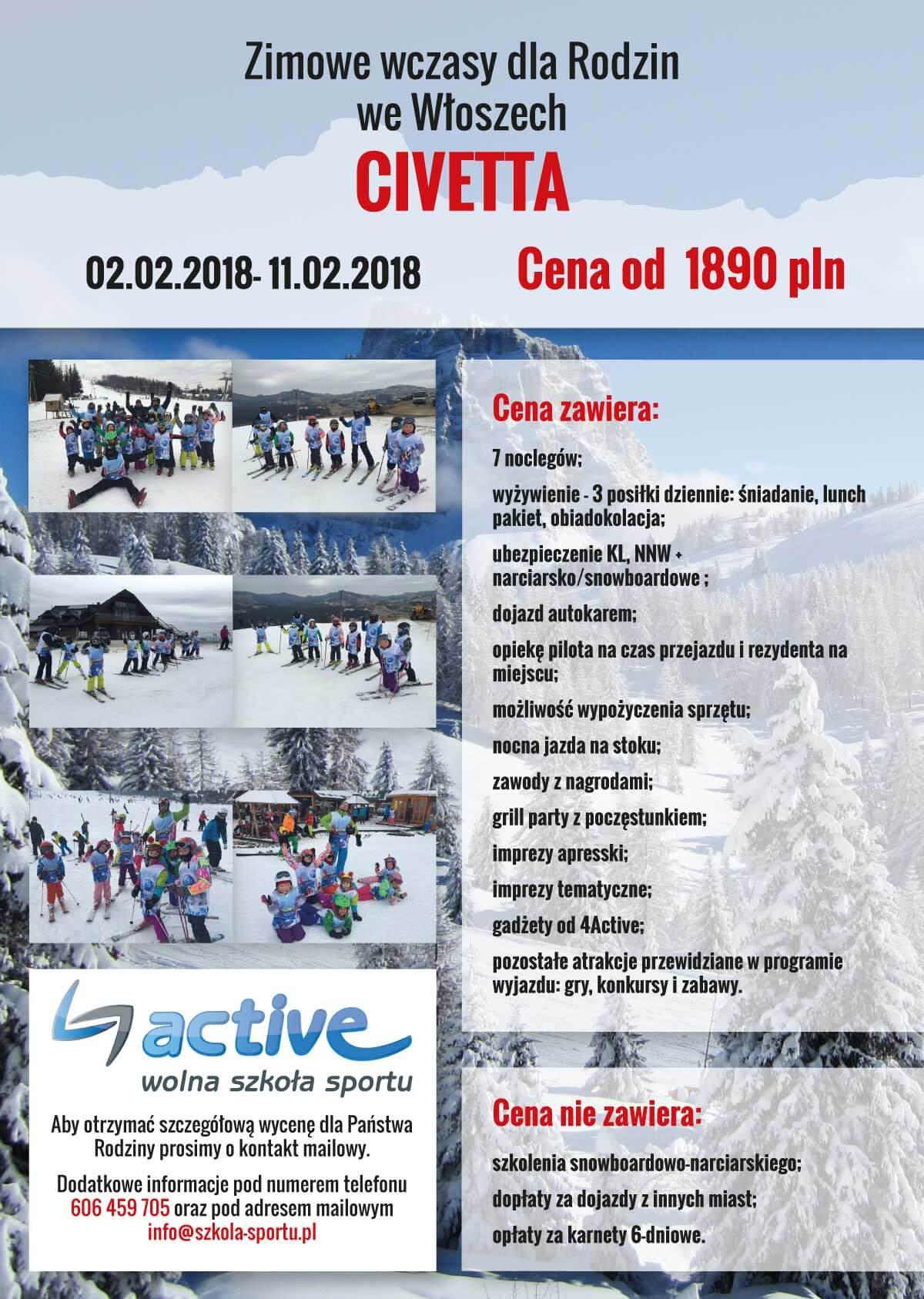 włochy zima 2018